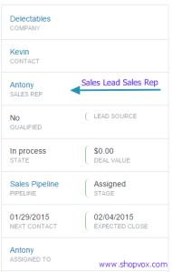 sales lead sales rep